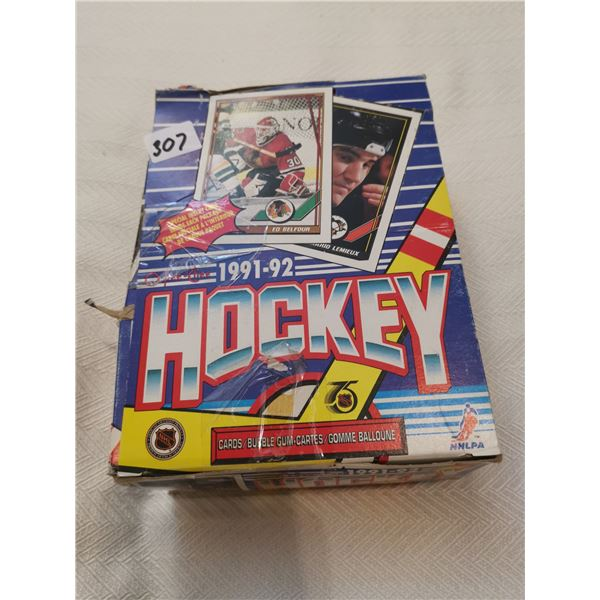 1991-92 O-Pee-Chee full box hockey cards with gum