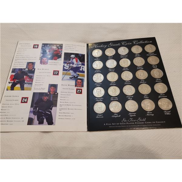 Official 1996-97 hockey greats coin collection