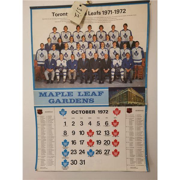 Toronto Maple Leafs 1971-72 Calendar