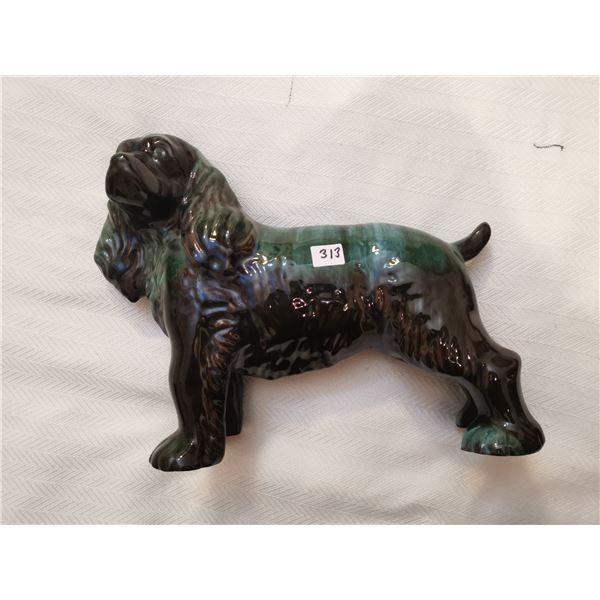"""Large pottery dog 14"""" long 11"""" high"""
