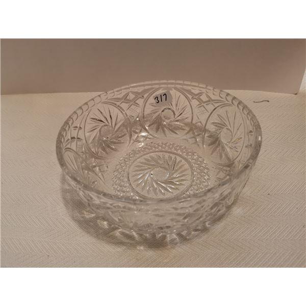 "Crystal fruit bowl 8"""