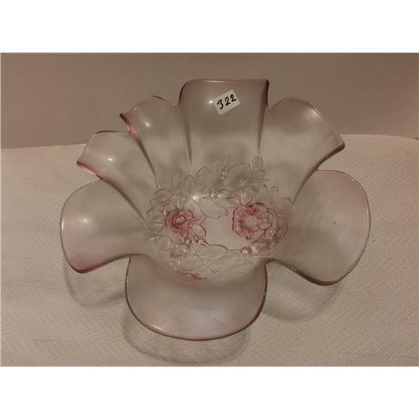"""Large pink fruit bowl 11"""" X 4"""" high"""