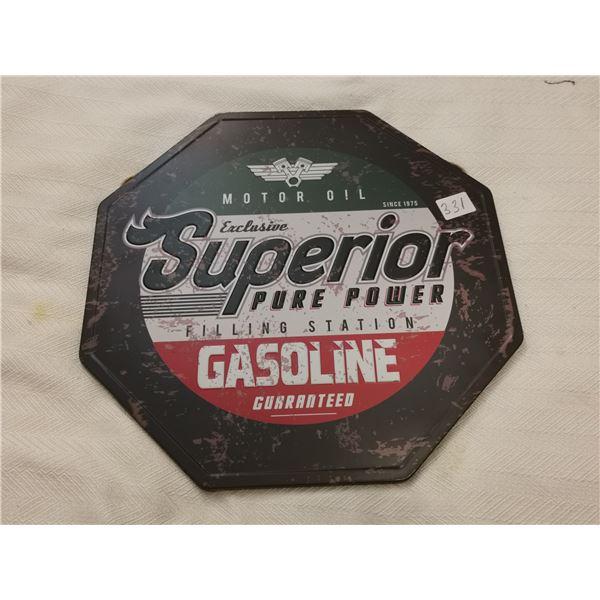 """Superior gasoline sign 12"""""""