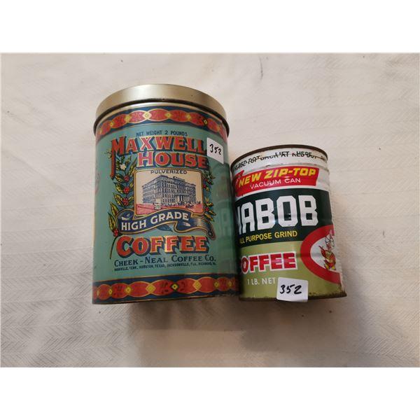 Maxwell house coffee reproduction, Nabob coffee tin