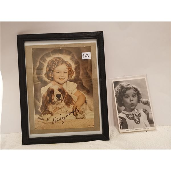 2 Shirley Temple pictures, 1 signed