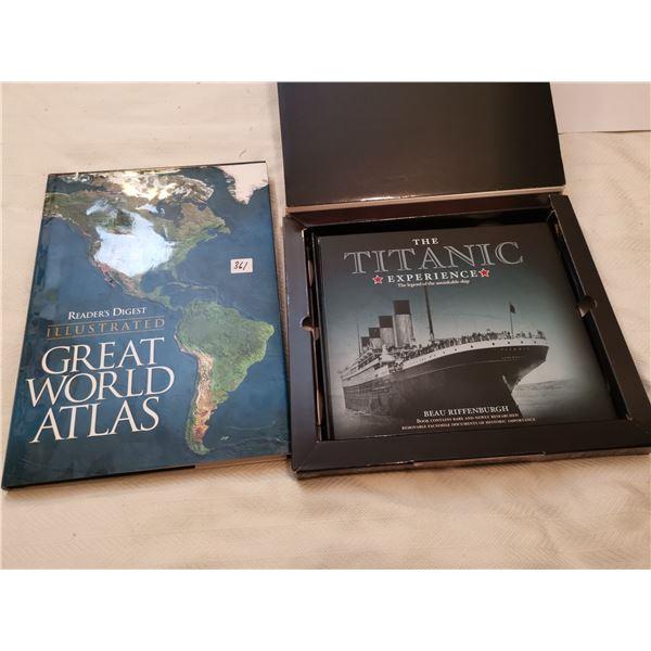 The Titanic & Great World Atlas books