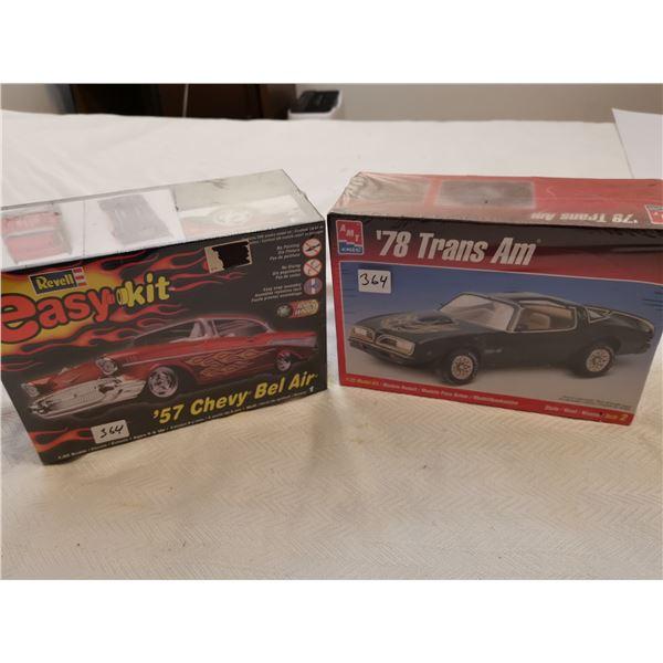 2 unopened model cars