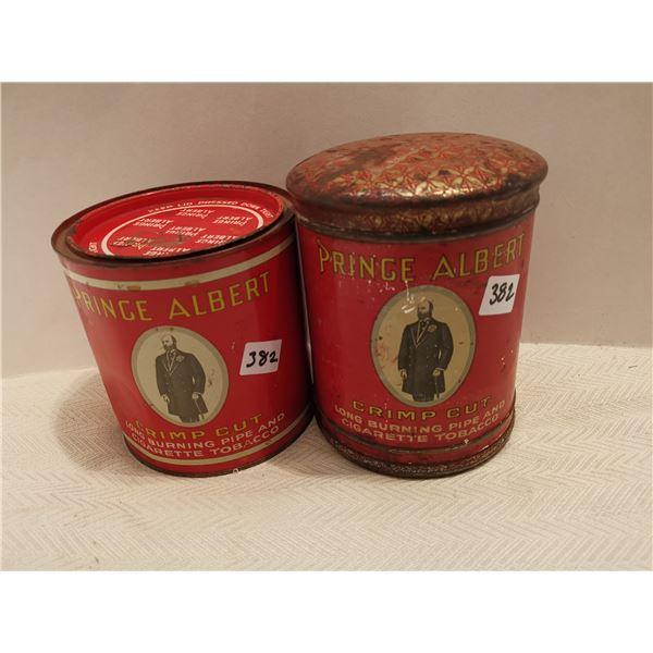 2 Prince Albert tobacco tins