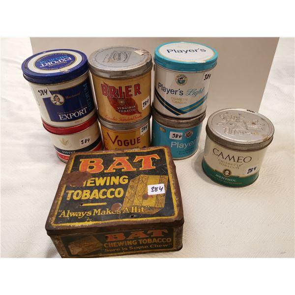 8 tobacco tins