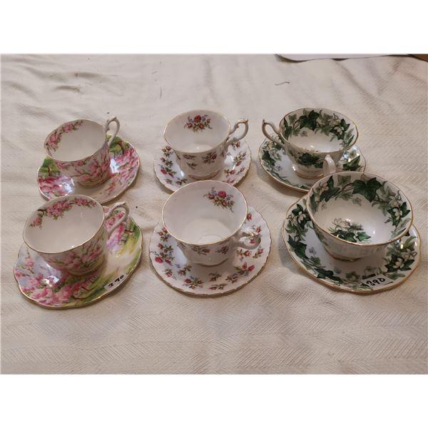 6 Royal Albert cups & saucers