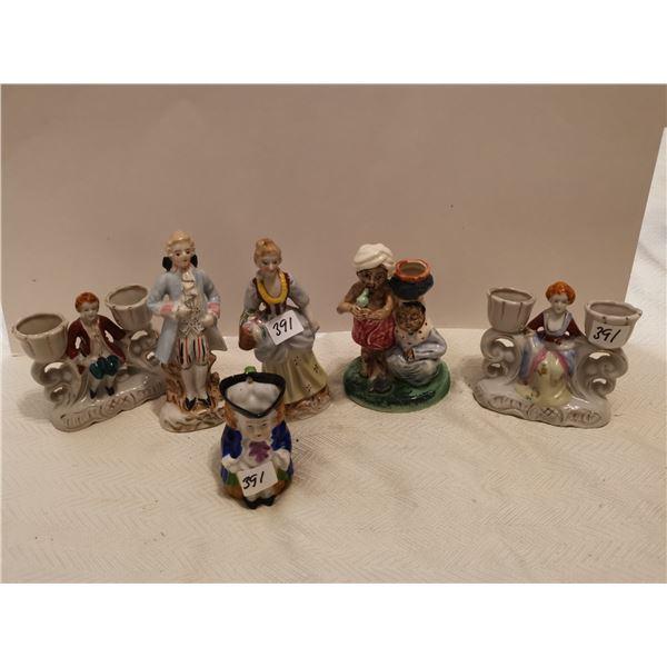 6 pieces Occupied Japan figurines