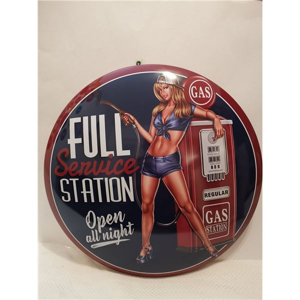 """Full service station sign dome 16"""""""