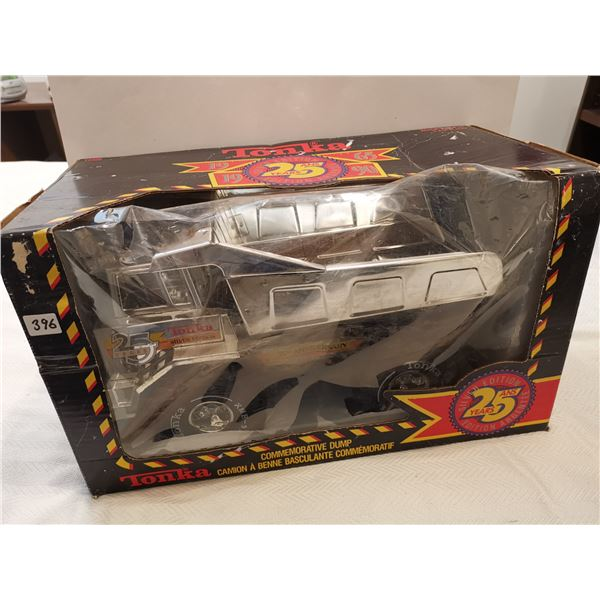Large silver edition Tonka dump truck with box