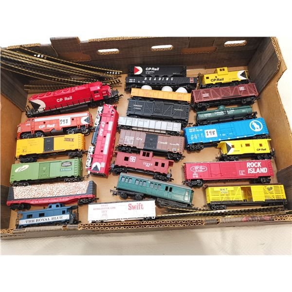 3 CPR engines 20 train cars some track