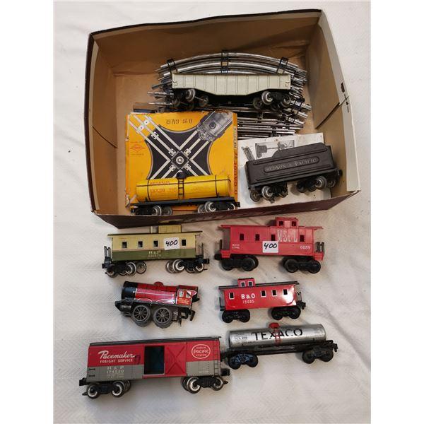 Metal train cars & plastic