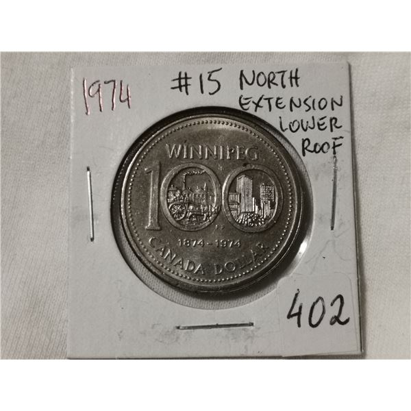 #15 North extension lower roof 1974 dollar