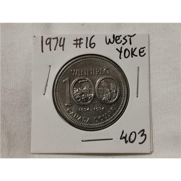 #16 West Yoke 1974 dollar