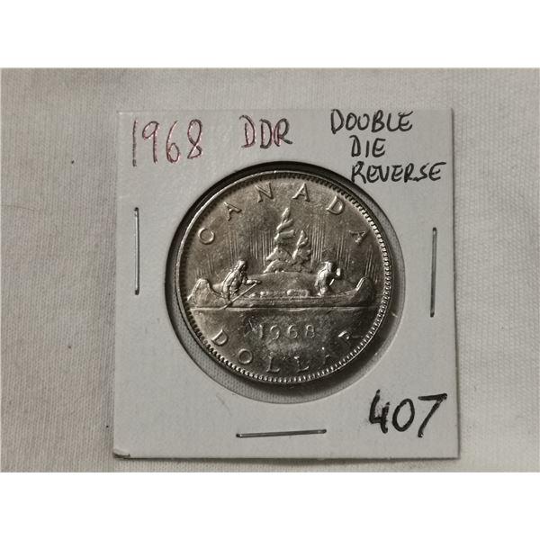 DDR double die reverse 1968 dollar