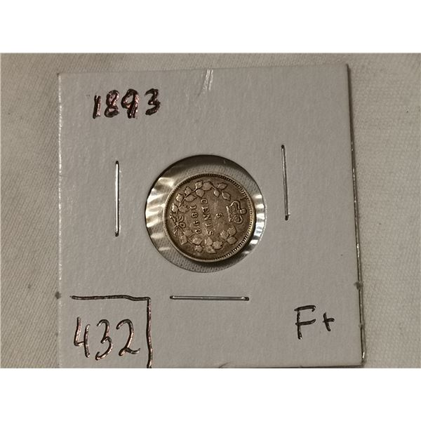 1893 silver 5 cent