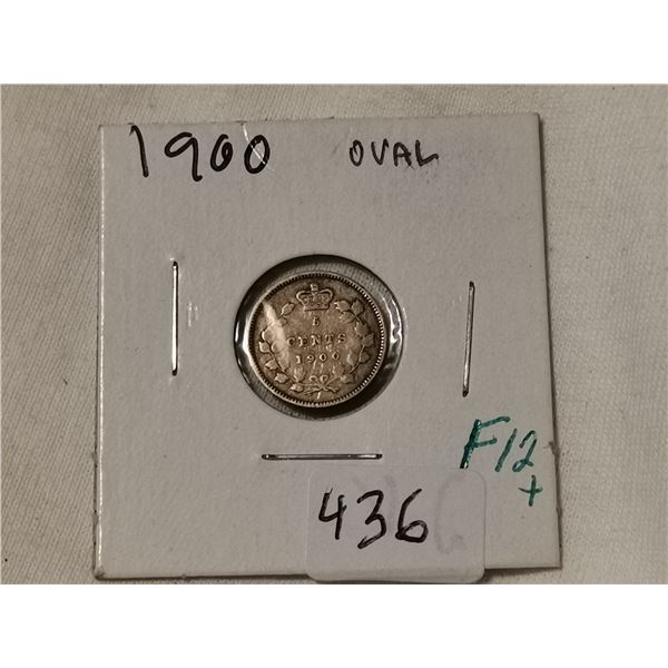 1900 oval silver 5 cent