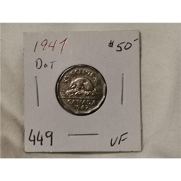 1947 dot 5 cent VF