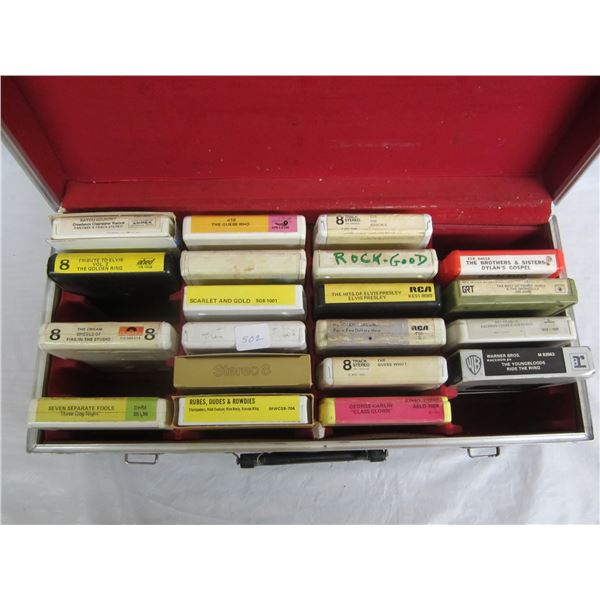 Lot of 8 track tapes and case