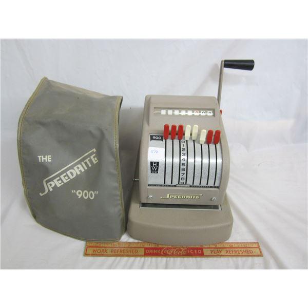 Speedrite 900 Cheque writing machine