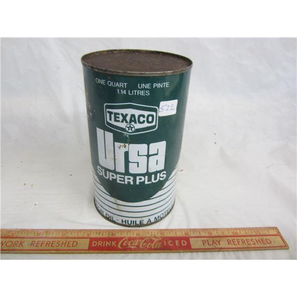 Texaco Ursa Oil can Full