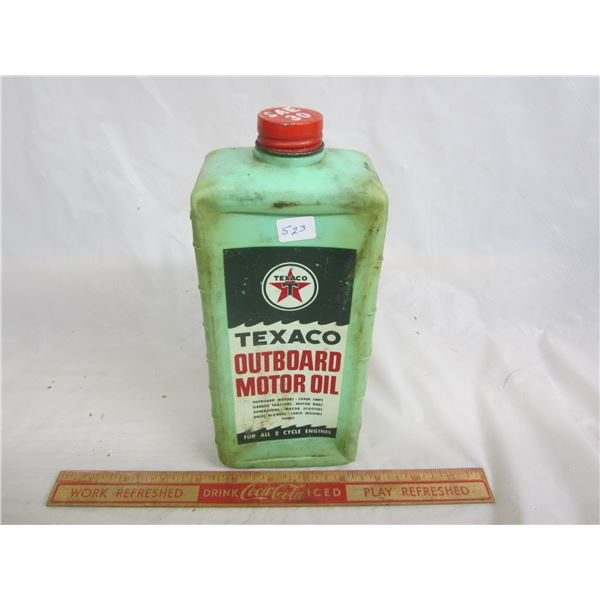 Texaco Outboard Oil empty