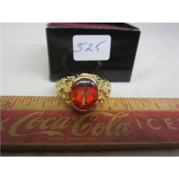 Gold Plated Ring with Cross
