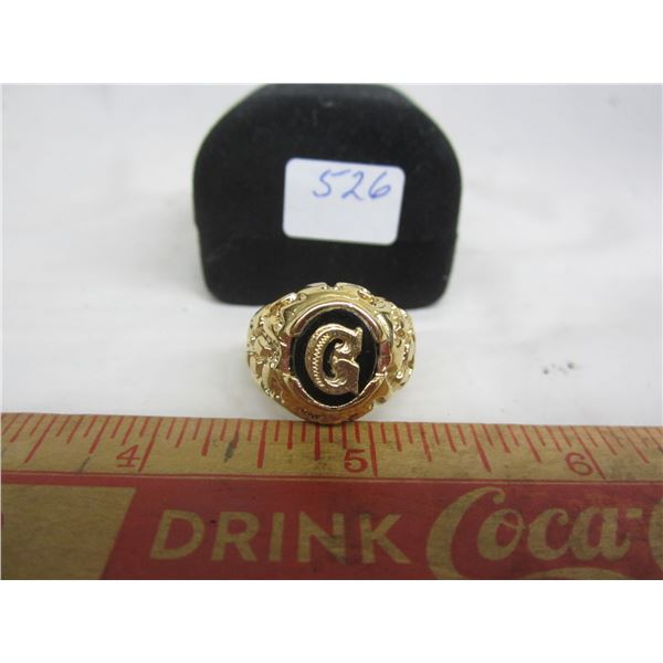 Gold Plated Ring with G on it