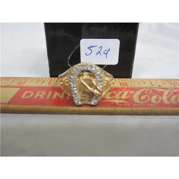 Gold Plated with Horse and Horse Shoe on it