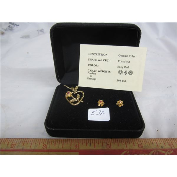Pendant and Ear Ring Set
