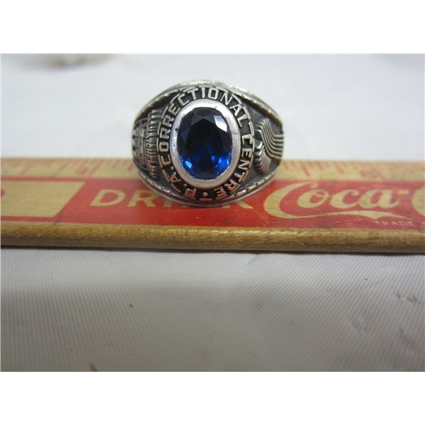 Large Sterling Ring with P.A. Correctional Center
