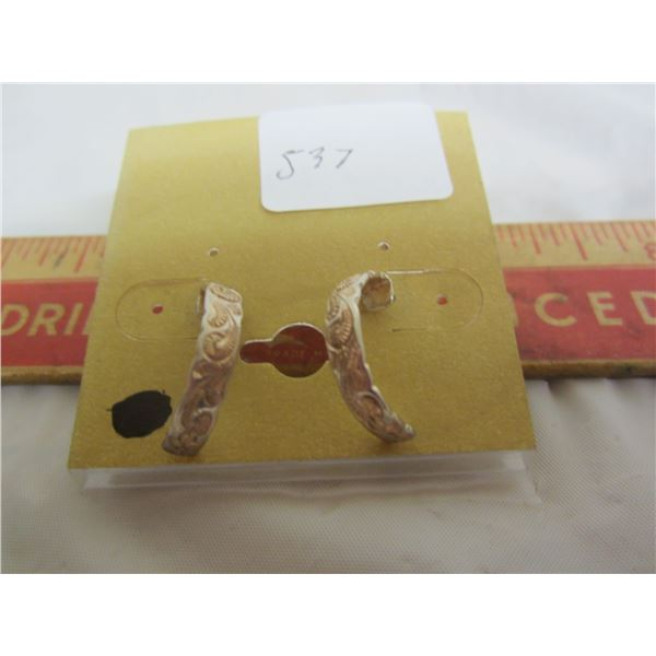 Gold Wash on Sterling Set of Ear Rings
