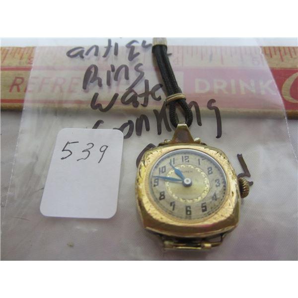 Gold Filled Ladies Ring Watch