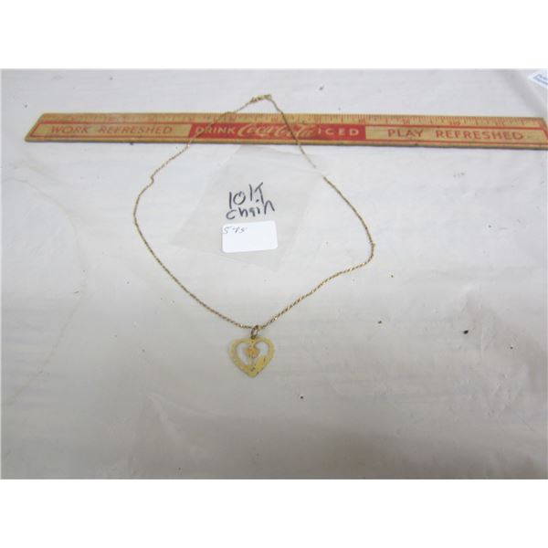 10 kt Gold Chain and Charm