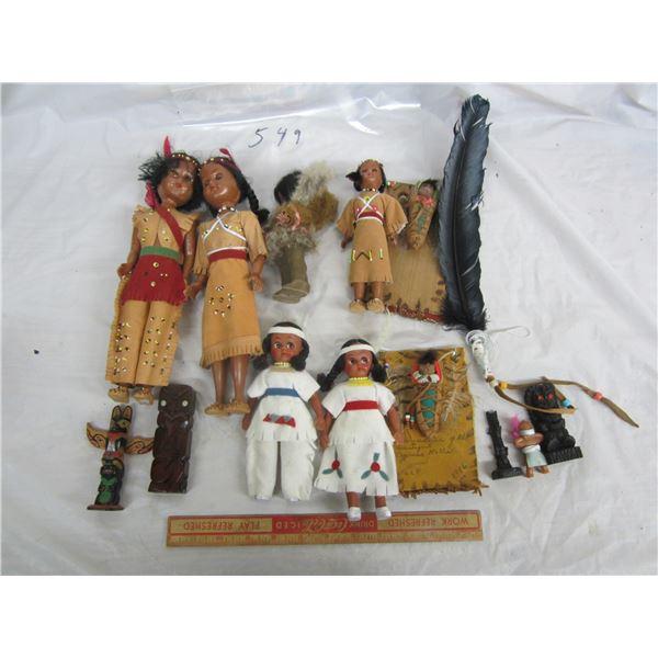 Large Lot of Native Dolls