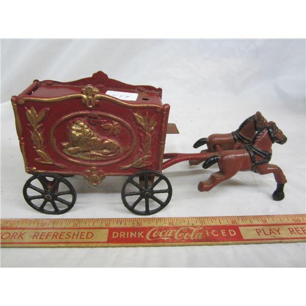 Cast Iron Circus Wagon