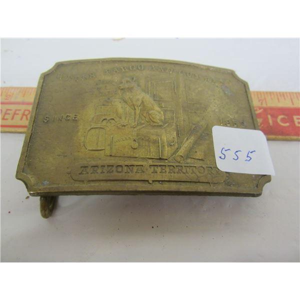 Wells Fargo Brass Belt Buckel