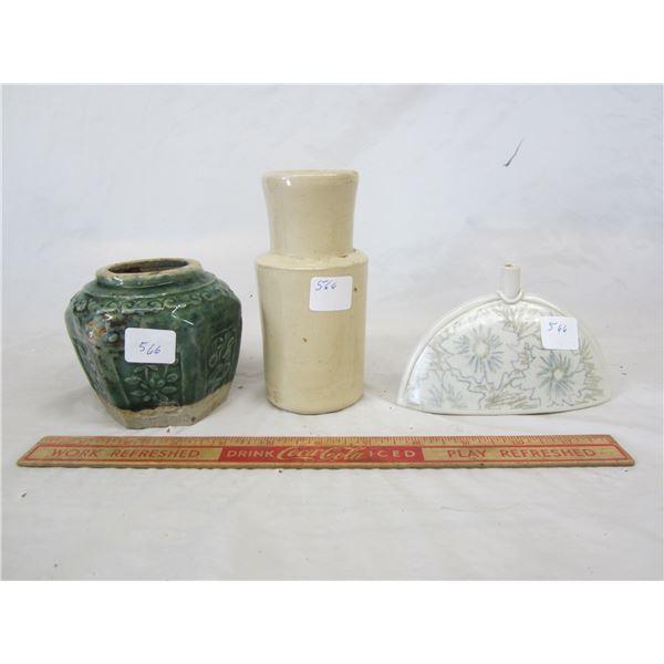 3 Porcelain Vases