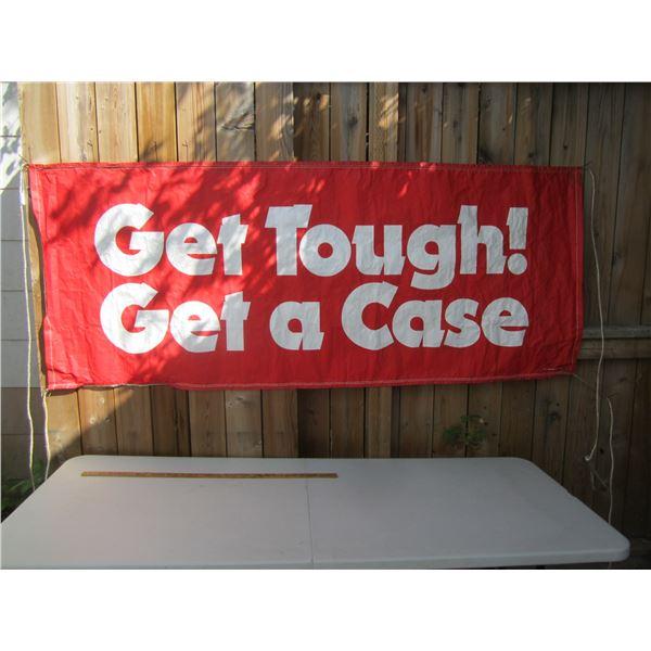 1970's Case Dealership Banner