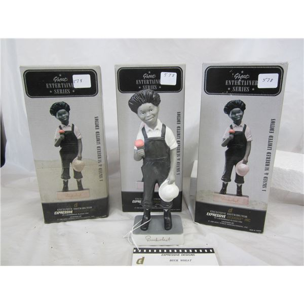 3 Buck Wheat Statues by Expressive Designs