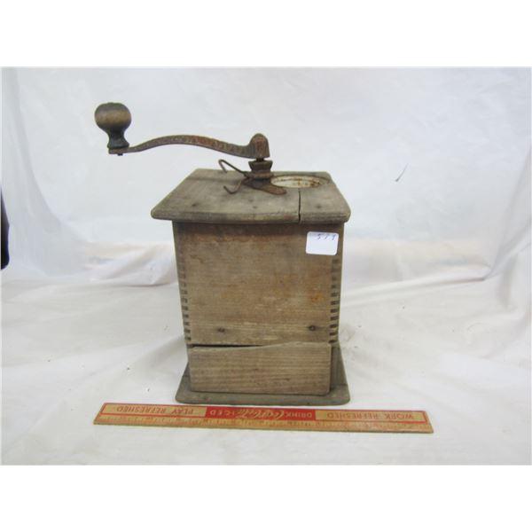Antique Wooden Coffee Grinder