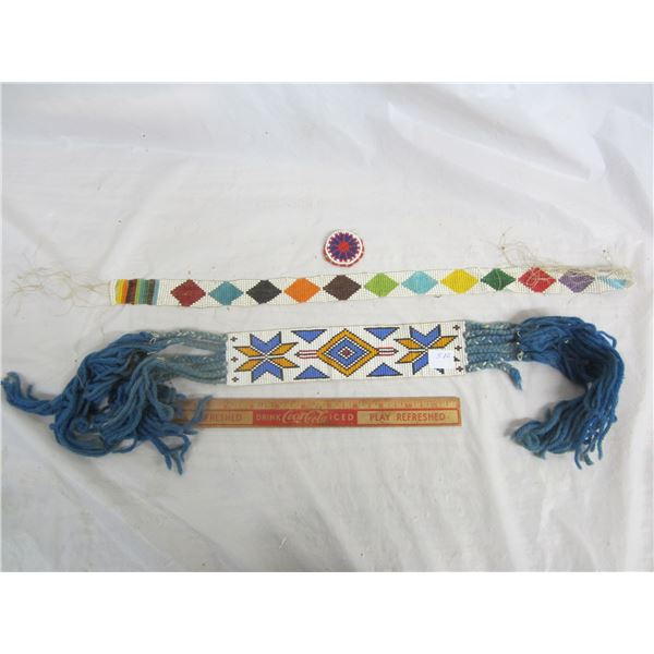 3 Pieces of Native Bead Work