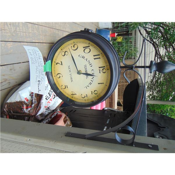 """8"""" BRACKET GRAND CENTRAL STATION BATTERY OPERATED TWO SIDED CLOCK"""