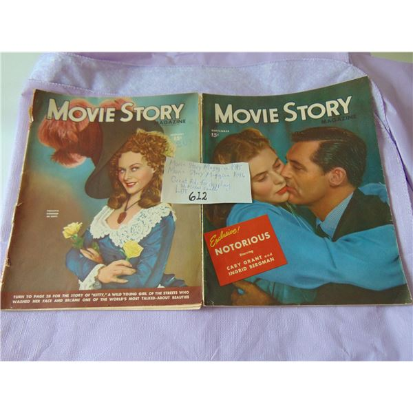 1945 & 1946 MOVIE STORY MAGAZINES GREAT ADS FOR FRAMING