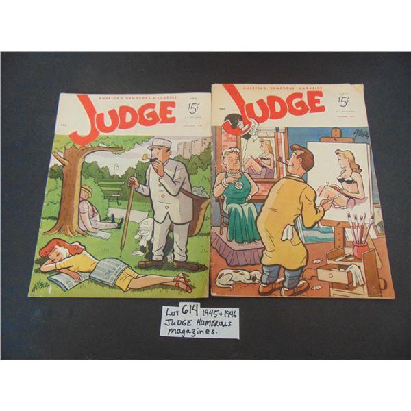 1945 & 1946 THE JUDGE HUMEROUS MAGAZINES