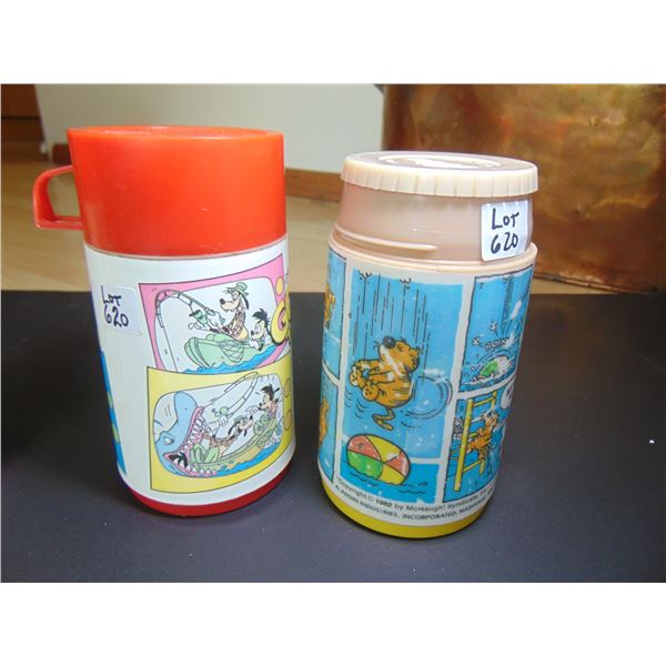 620 GOOF TROOP & HEATHCLIFF ALADIN THERMOS ONE LID ONLY