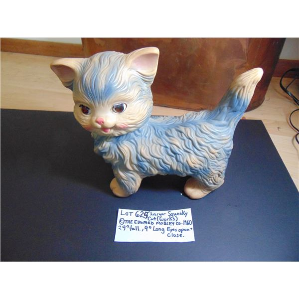 625 1960 EDWARD MOBLEY CO. SQUEEKY CAT WORKS LARGER ONE
